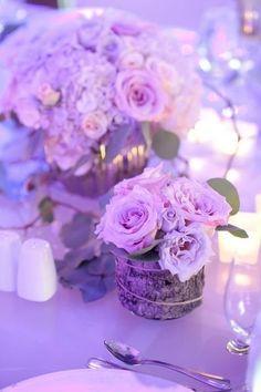 Weddings Inspirations. Purple Tablescape Décor.
