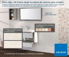 Elige los #colores adecuados para #decorar tu #baño #Corona inspira