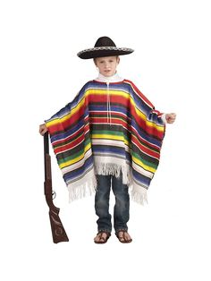 Child's Mexican Poncho Costume | Wholesale International Costumes for Boys