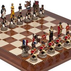Hand Painted Napoleon  The Duke of Wellington Chessmen  Chelsea Park Deluxe Mahogany Chess Board From Spain >>> Want to know more, click on the image.
