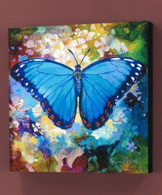 Take a look at this Blue Butterfly Gallery-Wrapped Canvas on zulily today!