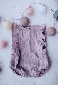 Handmade Muslin Flutter Romper | LaPetitePersonneShop on Etsy