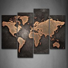 General World Map Black Background Wall Art Painting Pictures Print On Canvas Ar… - Decoration, Room Decoration, Decoration Appartement, Home Decor, Bedroom Decor Map Canvas, Canvas Wall Art, Canvas Frame, Canvas Prints, Art Prints, Abstract Canvas, Pictures To Paint, Print Pictures, Painting Pictures