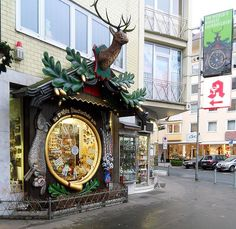 Weisbaden, Germany - 'World's Biggest Cuckoo Clock'  I saw this today but the shop was closed as the owners are on vacation.