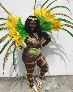Danielle Brooks Wears a West Indian Day Carnival Outfit - bonafeed Carribean Carnival Costumes, Trinidad Carnival, Caribbean Carnival, Fit Black Women, Black Girls Rock, Black Girl Magic, Curvy Women, Carnival Girl, Carnival Outfits