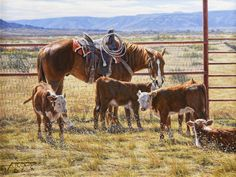 Oil painting By Tim Cox - The Eddie Basha Collection