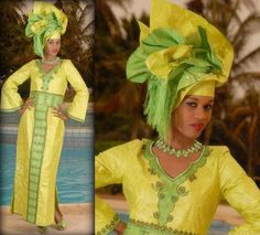 African women's green ethnic brocade maxi by NewAfricanDesigns, $155.00