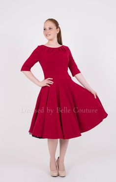 Entdecke lässige und festliche Kleider: Basic Jerseykleid Audrey Falten made by dressed by Belle Couture - Jerseykleider via DaWanda.com