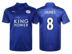 Leicester City #8 Matty James 2016-17 Home Short Shirt