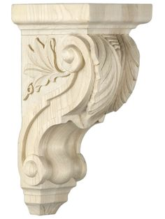 Leaf Pattern Corbel in 4 Sizes with Choice of Wood | House of Antique Hardware