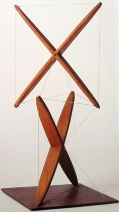 "Kenneth Snelson ""Early X-Piece"" 1948 (via MONDOBLOGO: the genius of kenneth snelson)"