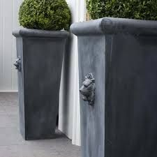 Image result for zinc tall planters
