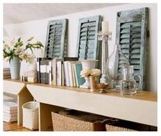small shutters for decor | Small shutters