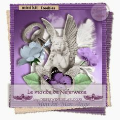 le monde de neferwene: mini kit-mon ange - june 2014