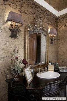 Powder Room, Oak Brook Design Inc.