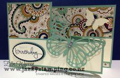 Petals & Paisleys Double Z Fold Card|Ella Warren|Jazzy Stamping