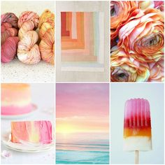 TFA PureWash Fingering in Paisley, Miso & Mimosa,patchwork rug,flowers,cake, sunset,popsicle,