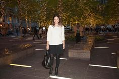 wearing my new Embellished Sweater from @J.Crew in Zuccoti Park #jcrew #sweatshirt #holidays