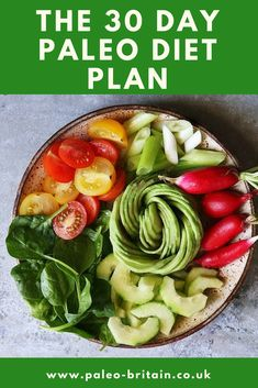 paleo diet 7 day mea