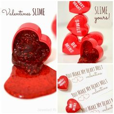 Love Slime.....DIY Gift Ideas #diy #gift #valentine #holiday #celebration #romantic #handmade