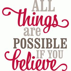 Jingle Bells Silhouette | all things are possible if you believe' vinyl phrase