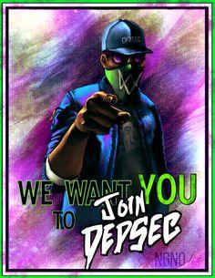 Watch Dogs 2 fanart - Join DedSec poster by ngenoART.deviantart.com on @DeviantArt