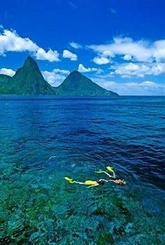Snorkeling under the #Pitons... what could be more magical?