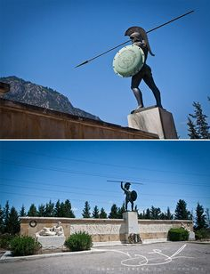 King Leonidas' memorial site at Thermopylae, Central Greece- not sure if I should put this in history or travel. Ancient Sparta, Ancient Rome, Ancient Greece, Ancient Aliens, Greek History, Ancient History, European History, American History, Ancient Greek Sculpture