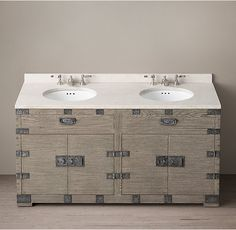 Heirloom Silver-Chest Double Vanity Sink