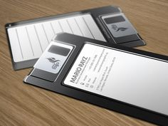 Floppy Disc Business Card Design