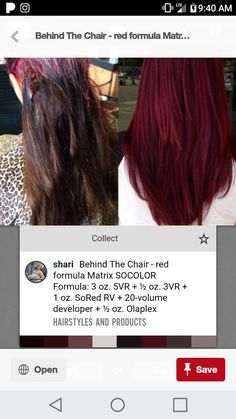 Colored Blunt Cut - 25 Thrilling Ideas for Red Ombre Hair - The Trending Hairstyle Matrix Hair Color, Hair Color And Cut, Cool Hair Color, Red Ombre Hair, Burgundy Hair, Chelsea Houska Hair Color, Hair Color Images, Hair Images, Biolage Hair