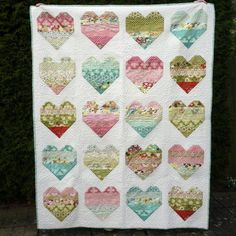 Jelly Roll Quilt Pattern Take Heart pattern on Craftsy.com
