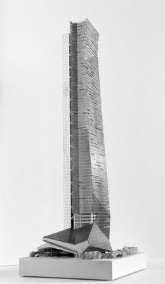 Hanking Center Tower - Model 05 | Morphopedia | Morphosis Architects