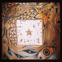 ++++ La mesa del Flower Power ++++ #table #art #wood #paint #posca #star…
