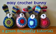 bunny free crochet pattern by The Green Dragonfly