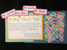Thumbprint mosaic thank you card! Had a lot of fun making this. :)