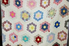 Vintage Grandmother's Garden Patch Quilt by ABFarmHouseVintage