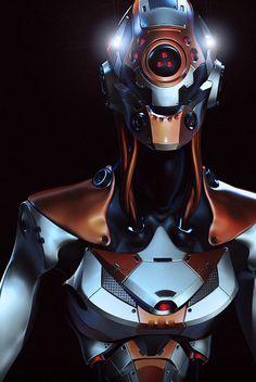 Cyclops WIP. # cyberpunk, robot girl, cyborg, futuristic, android, sci-fi, science fiction, cyber girl, digital art
