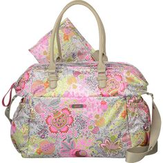 Oilily Botanical Garden Baby Bag Handbag Diaper Bag ($175) ❤ liked on Polyvore featuring bags, handbags, shoulder bags, diaper bags, pink, pink purse, shoulder handbags, diaper bag, handbags shoulder bags and floral shoulder bag