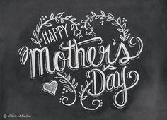 Mothers Day Card - Happy Mothers Day - Chalkboard Art - Blackboard Card - Hand Lettering- Chalk Art via Etsy Mothers Day Images, Mothers Day Quotes, Mothers Day Crafts, Happy Mothers Day, Mothers Day Signs, Mothers Day Decor, Blackboard Art, Chalkboard Walls, Chalkboard Designs