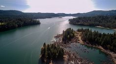 Drone Shot of 'Lost Creek Lake' - Prospect, OR.