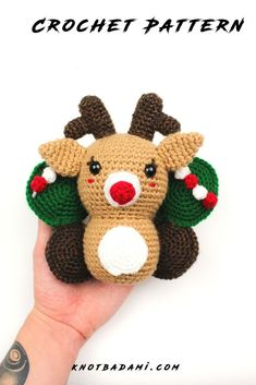 Make your very own cute crochet butterfly reindeer! Get started with amigurumi with this crochet pattern for your christmas gifts and decor. Create your own cute reindeer with this easy and unique crochet pattern. Cute and kawaii, this basic and beginner friendly DIY project is perfect for any crocheter that loves christmas and summer. This stuffed animal amigurumi is perfect for home decor. Great project for the holidays! Stuffed animal plushie that can be made quickly with lion brand yarn. Unique Crochet, Easy Crochet Patterns, Cute Crochet, Crochet Butterfly, Butterfly Wings, Beginner Crochet Projects, Holiday Crochet, Lion Brand Yarn, Digital Pattern