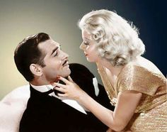 Jean Harlow and Clark Gable 'Saratoga' 1937.