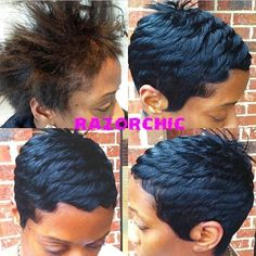So Neat! - http://www.blackhairinformation.com/community/hairstyle-gallery/relaxed-hairstyles/neat-8/ #relaxedhairstyles
