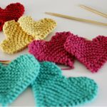 lovely knit hearts, simple and quick