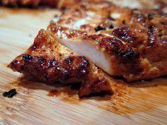 Fajita Chicken: 1/2 cup bottled Italian dressing  1 Tbsp chili powder  1 tsp ground cumin  1/2 tsp brown sugar  1/2 tsp pepper  1/4 tsp salt  1/8 tsp garlic powder  1/8 tsp chipotle seasoning  3 skinned and boned chicken breasts (about 2 lb.)