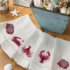 50% off our Crab, Fish or Octopus guest towel. One day only. 100% linen; embroidered details. Enter Spring Coupon Code: Spring430  Offer expires 6p ET Wednesday, May 1, 2013. http://www.seasideinspired.com/3252-sea-life-guest-towels.htm