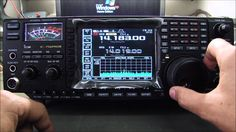 The Icom 756 pro3 along side the IC9100 in the communication unit for Demo