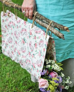 Perfect for our flower picking hikes. Otherwise I get stuck carrying every tiny stem and they always know if I drop one!