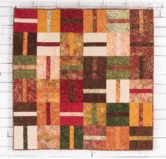 "Timeless Treasures Tonga Treats 10"" Squares Fabric & Banana Split Pattern Quilt…"